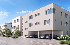 Welser Heimstätte - Fabrikstraße 4 - Straßenansicht - 18 Mietwohnungen ab Frühjahr 2021